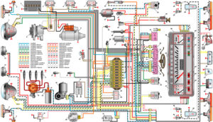 Схема электрооборудования авто ВАЗ–21011, ВАЗ–21013