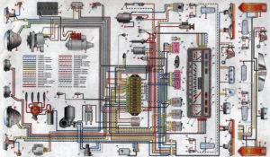 Схема электрооборудования автомобилей ВАЗ-2101 и ВАЗ-2102