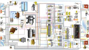 Схема электрооборудования автомобилей ВАЗ-1111, -11113