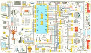 Схема электрооборудования автомобиля ВАЗ-2105 и модификаций