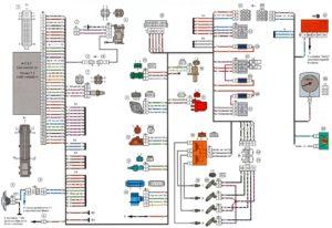 Схема электрооборудования ВАЗ-2106 с системой впрыска топлива