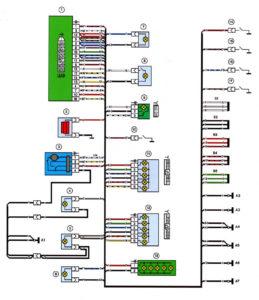 Схема заднего жгута проводов ВАЗ 2114 инжектор