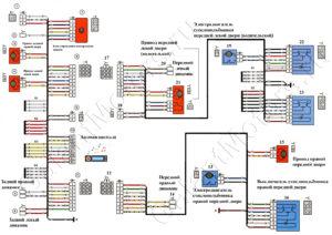 Схема боковых жгутов ВАЗ 2114 инжектор