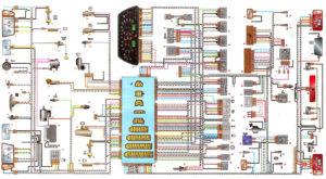 Общая схема электрооборудования ВАЗ 2113, 2114 инжектор.