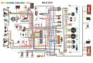 Схема электрооборудования ваз-2121 (4х4) Нива