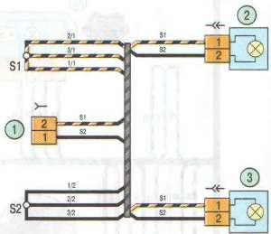 Схема фонарей освещения номерного знака