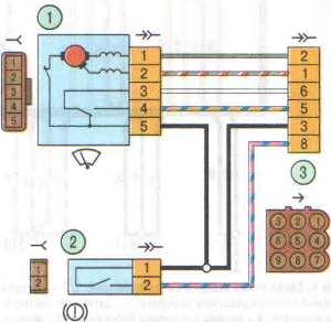 Схема жгута короба воздухопритока