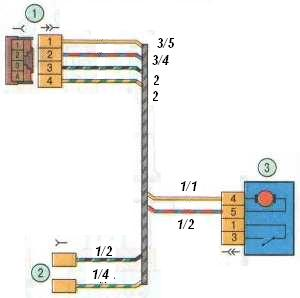 Схема жгута задней двери Лада Гранта