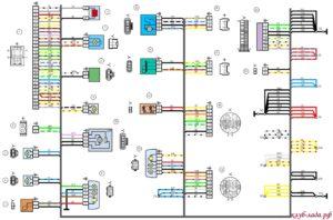 Схема электрооборудования задней части lada granta
